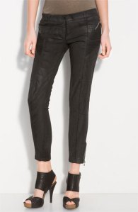 Pierre Balmain Wax Coated Stretch Pants