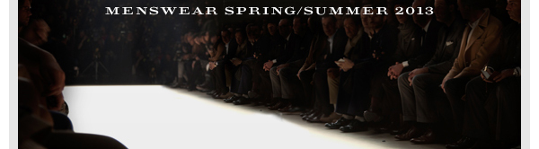 Watch it LIVE, stream that is. Burberry Menswear SS2013, 6/23!