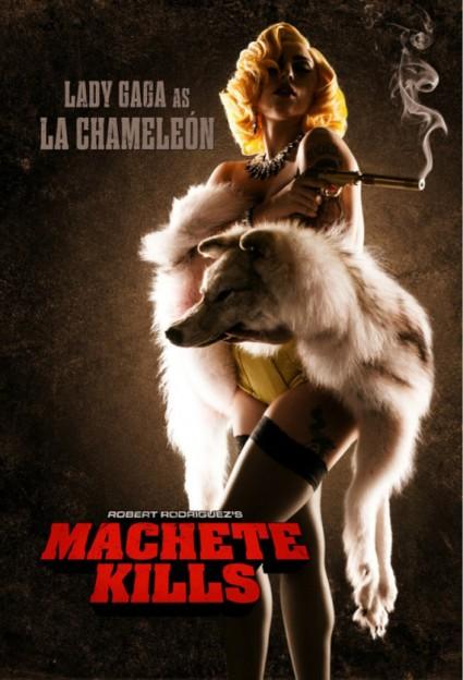 Lady Gaga as La Chameleon in her acting debut for 'MacheteKills'