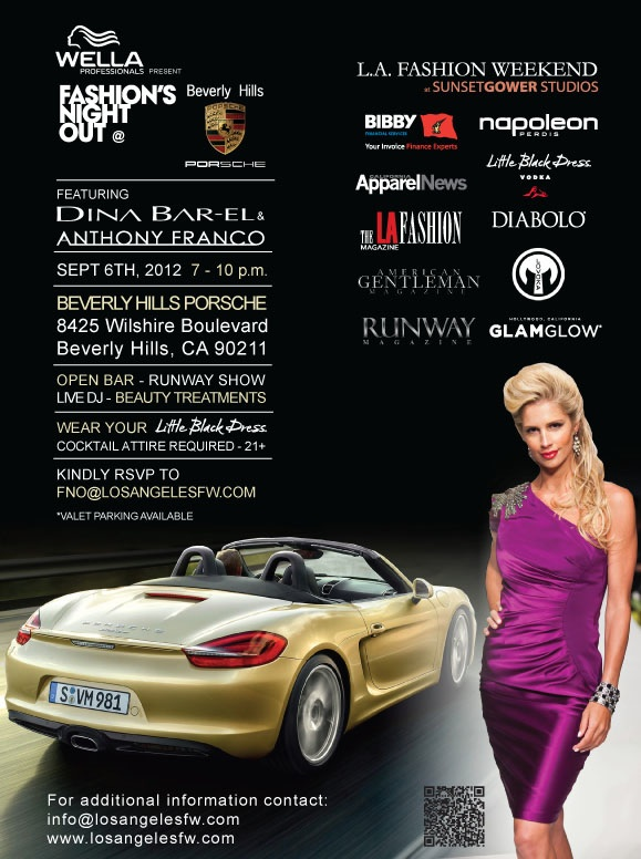 FNO brought to you by Wella and Beverly Hills Porsche, West La Style,Tomorrow!