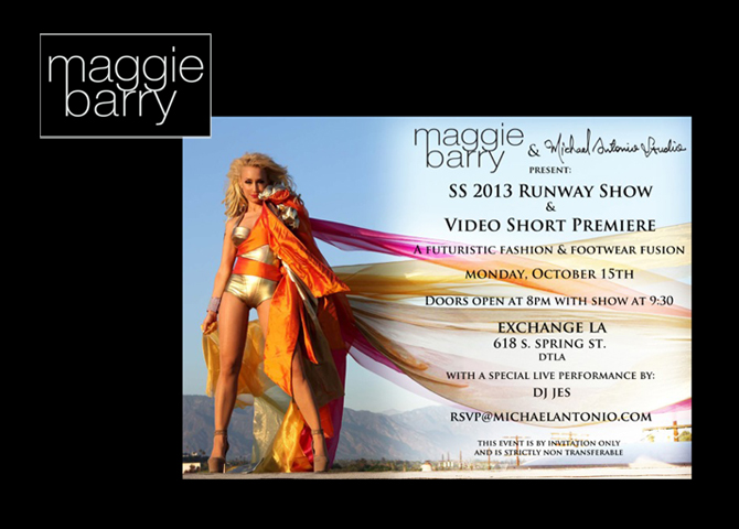 10/15/2012 Maggie Barry & Michael Antonio Shoes Fashion Show. #LAFW #SS2013 #Stunning (photo/video)