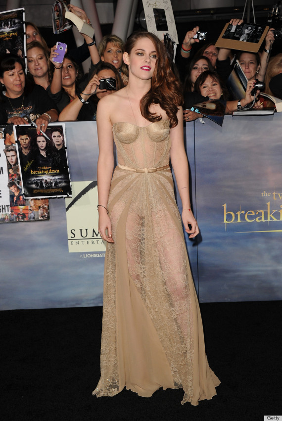 Kristen Stewart Goes Nude for Breaking Dawn: Pt 2….in Stunning Zuhair Murad Dress