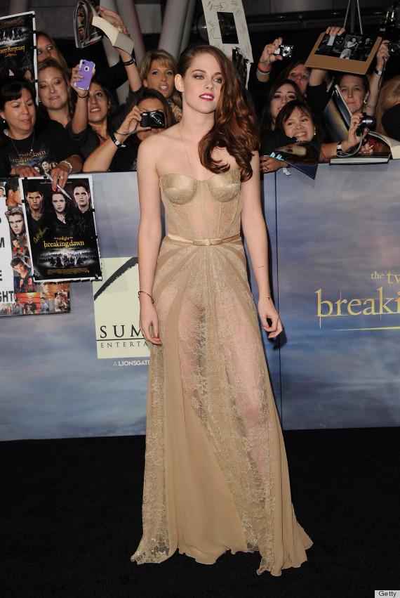 Kristen Stewart Goes Nude for Breaking Dawn: Pt 2….in Stunning Zuhair MuradDress