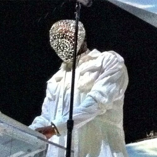 Kanye's Crystal Mask by Maison Martin Margiela. & Other Fashion Faux Pas #Concert #Costume #WTF