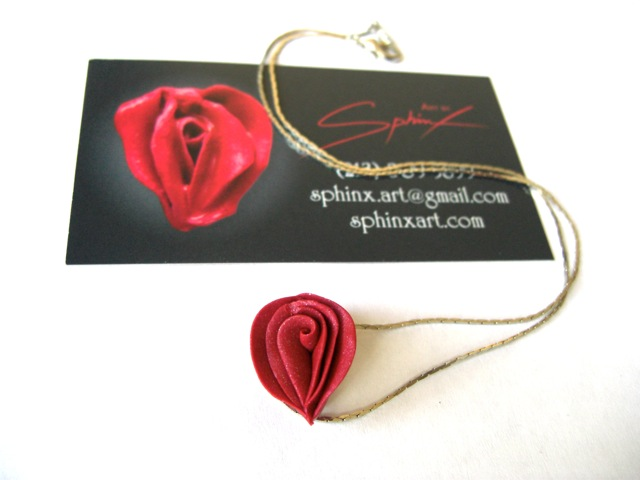 necklace and card