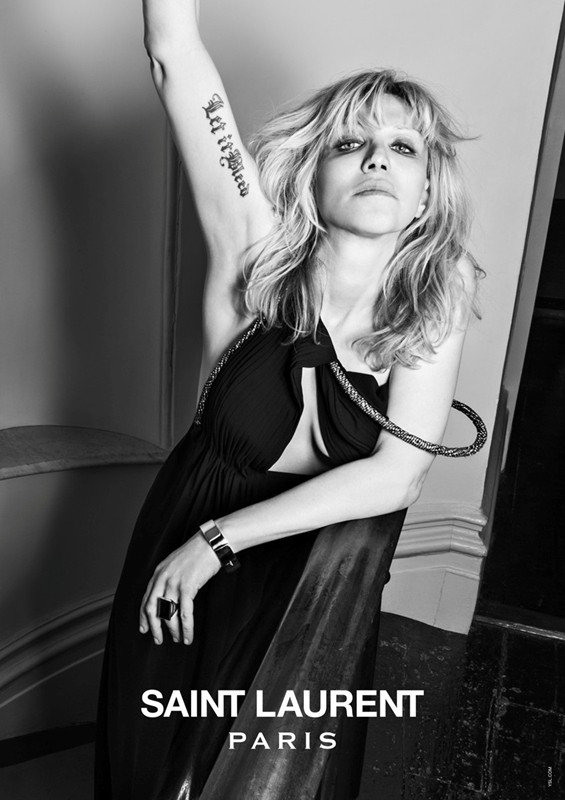 The New Saint Laurent Featuring Icons of 90's Rock #HeidiSlimane #Photography #Campaign (2/6)