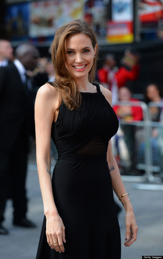 Angelina Look's Stunning in @YSL/St. Laurent in London After Double Masectomy #Brave #Gorgeous