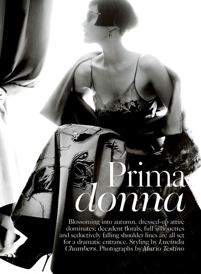 Catherine McNeil and Mario Testino Team Up to Create 'Prima Donna' for British Vogue #Unique #NoirBeauty