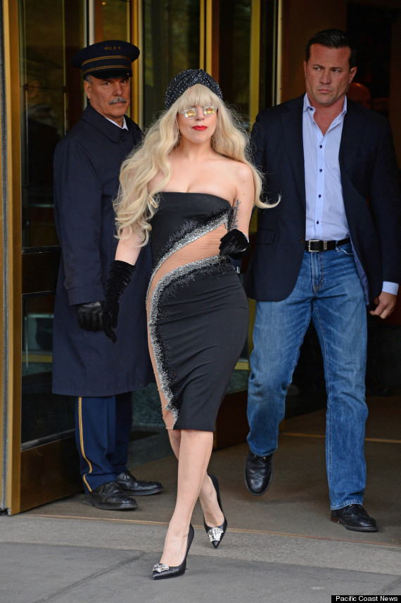Lady Gaga seen leaving her apartment in New York City