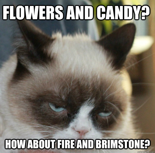 Happy Valentine's Day from HeathyrWolfe.com! #VDay #GrumpyCat #FTW