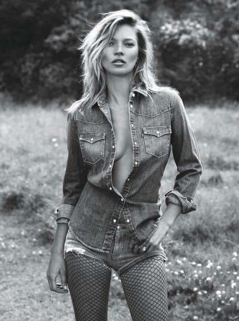 Kate Moss Denim - Super Normal Super Models Wear The Best of Fall 2014 Fashion   W Magazine