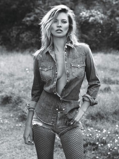 Kate Moss Denim - Super Normal Super Models Wear The Best of Fall 2014 Fashion   W Magazine
