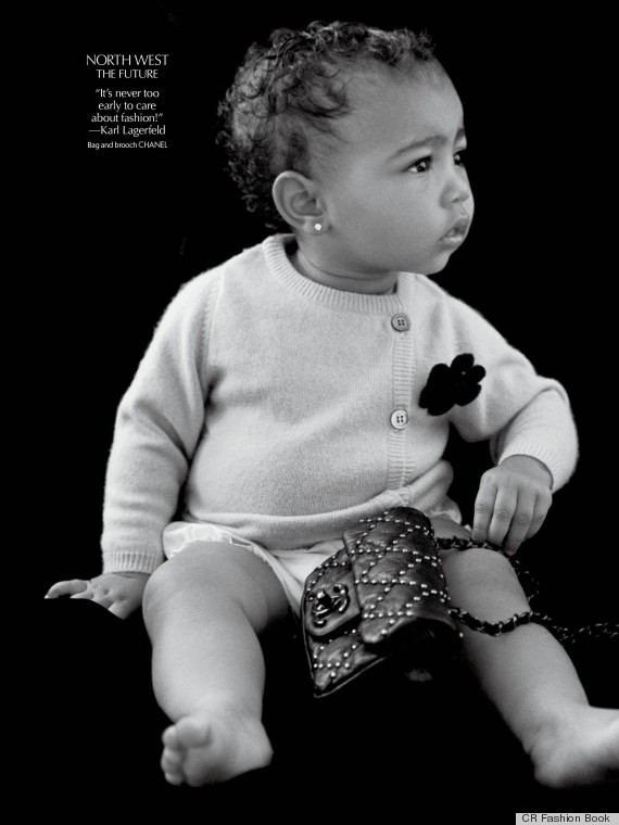 "And Karl said,""It's never too early to care about fashion"". Presenting North West in Chanel #BabyFashion #Kimye #NorthWest"