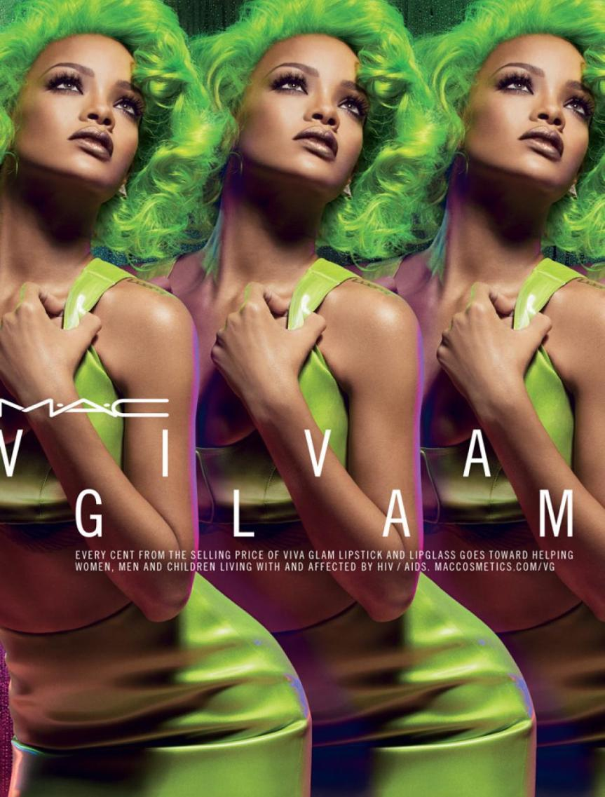 Rihanna for MAC Viva Glam II Going #Green #NewColors #Budgetista (@MacMakeUpDaily @Rihanna)
