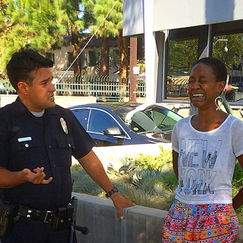 D'Jango Unchained Actress Danielle Watts Detained by #LAPD as #Prostitute for Kissing Boyfriend! #BadForm #LAPD #DanieleWatts